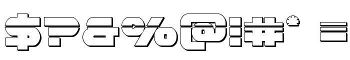Gemina Laser 3D Font OTHER CHARS