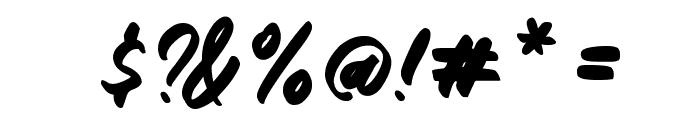 Gemini Brush Font OTHER CHARS