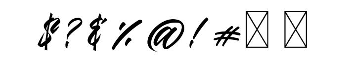 Gendry Regular Font OTHER CHARS