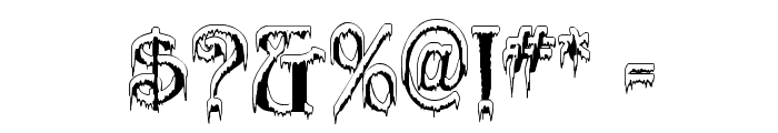 Generic Uncials 'Snowcapped' Font OTHER CHARS