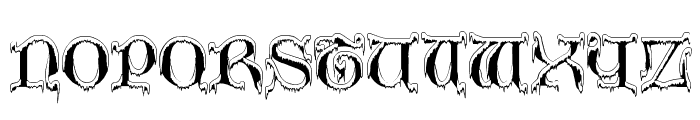 Generic Uncials 'Snowcapped' Font UPPERCASE