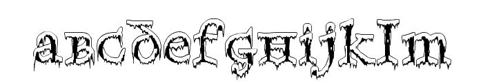 Generic Uncials 'Snowcapped' Font LOWERCASE