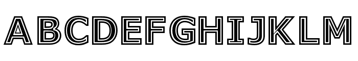 GeneseeSt-Regular Font UPPERCASE