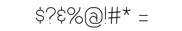 Genji Thin Font OTHER CHARS