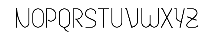 Genji Thin Font UPPERCASE