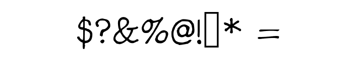 Gennaro Palmieri Formal Medium Font OTHER CHARS