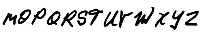 GennaroPalmieriCursive Font UPPERCASE