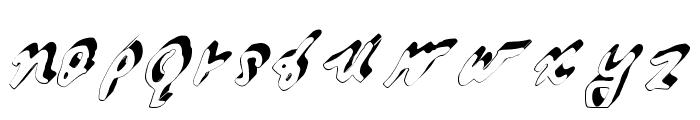 GennaroPalmieriCursive_3D Medium Font LOWERCASE