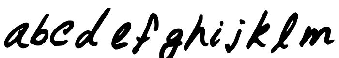 GennaroPalmieriCursive Font LOWERCASE