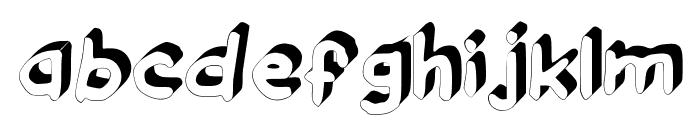 GennaroPalmieriDraftsman_3D Medium Font LOWERCASE