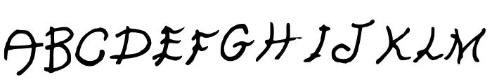 GennaroPalmieriHectic Font UPPERCASE