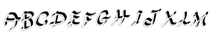 GennaroPalmieriHectic_3D Medium Font UPPERCASE