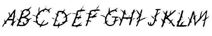 GennaroPalmieriThorny Font UPPERCASE