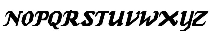 GenoaItalic Font UPPERCASE