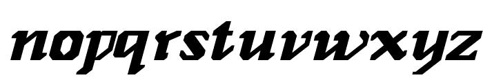 GenoaItalic Font LOWERCASE