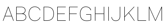 Genome-Thin Font UPPERCASE