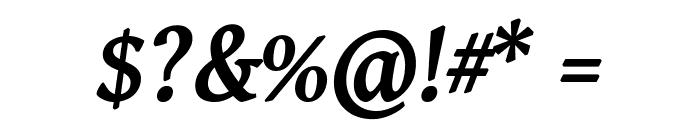Gentium Basic Bold Italic Font OTHER CHARS