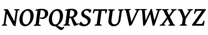Gentium Basic Bold Italic Font UPPERCASE