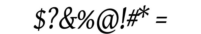 Gentium Basic Italic Font OTHER CHARS