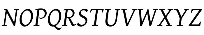 Gentium Italic Font UPPERCASE