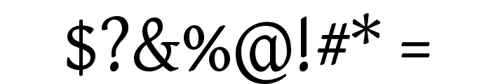 GentiumAlt Font OTHER CHARS