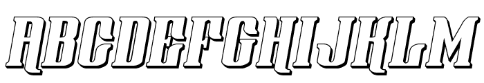 Gentleman Caller 3D Italic Font UPPERCASE