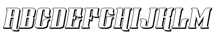 Gentleman Caller 3D Italic Font LOWERCASE