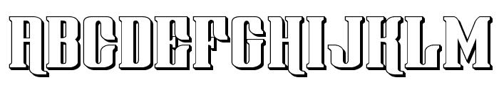 Gentleman Caller 3D Font UPPERCASE