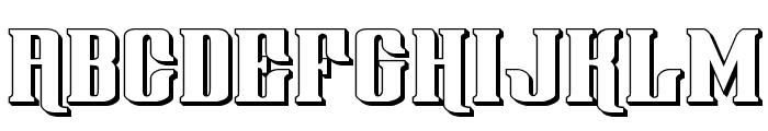Gentleman Caller 3D Font LOWERCASE