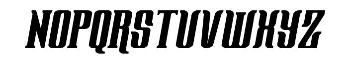 Gentleman Caller Condensed Italic Font UPPERCASE