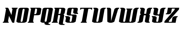 Gentleman Caller Expanded Italic Font UPPERCASE