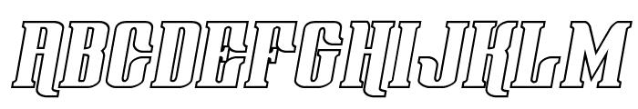 Gentleman Caller Outline Italic Font UPPERCASE