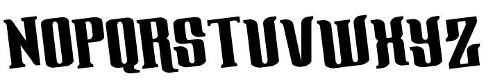 Gentleman Caller Rotated Font UPPERCASE