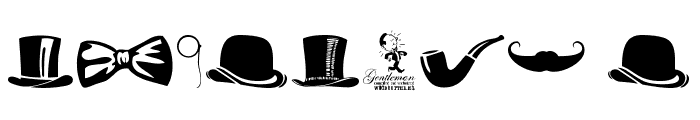 Gentleman Icons Font OTHER CHARS