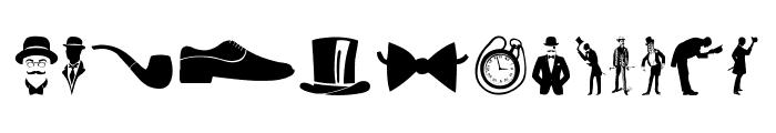 Gentleman Icons Font UPPERCASE