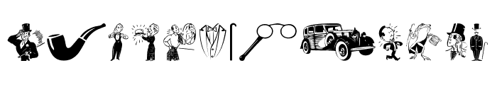 Gentleman Icons Font LOWERCASE