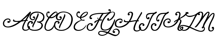 Gentleman in the Shadow Font UPPERCASE