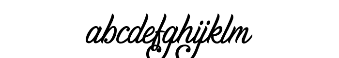 Gentleman in the Shadow Font LOWERCASE