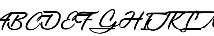 Gentlemanly Font UPPERCASE