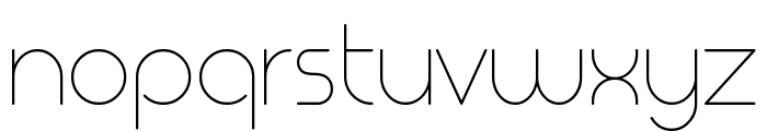 Geoma Thin Demo Font LOWERCASE