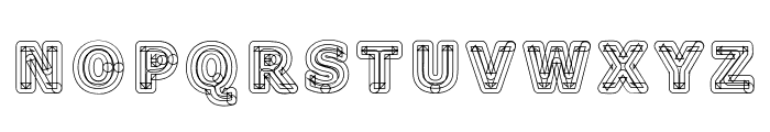 Geometri Outline Font UPPERCASE