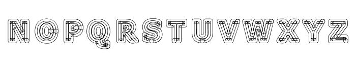 Geometri Outline Font LOWERCASE