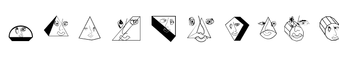 GeometricFaces Font OTHER CHARS
