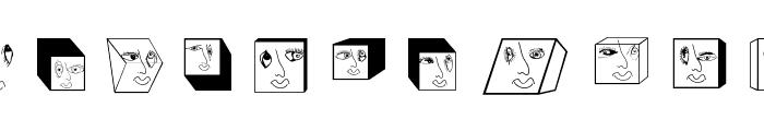 GeometricFaces Font UPPERCASE