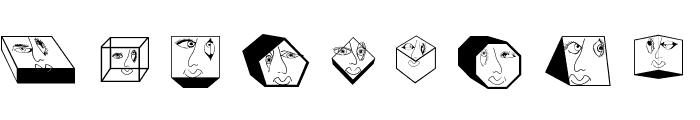 GeometricFaces Font LOWERCASE