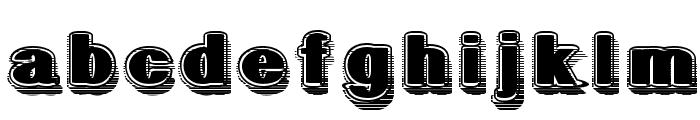 GeometricFog Font LOWERCASE