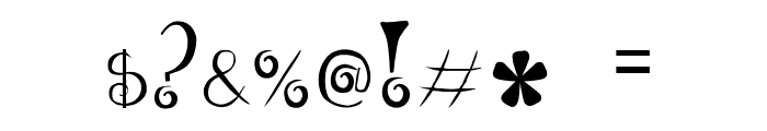 GeordanaRegular Font OTHER CHARS