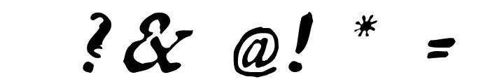 GeorgItalic Font OTHER CHARS