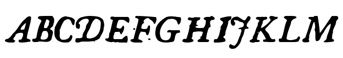 GeorgItalic Font UPPERCASE