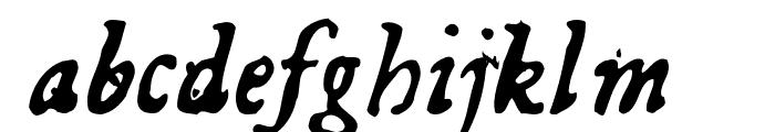 GeorgItalic Font LOWERCASE